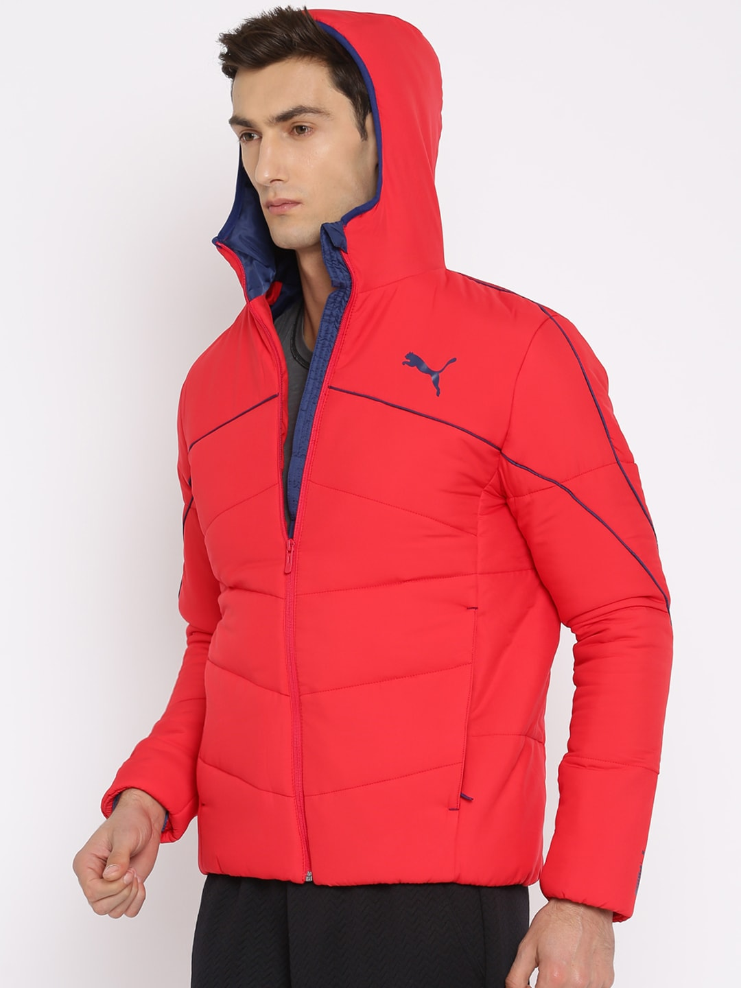 puma red quilted jackets