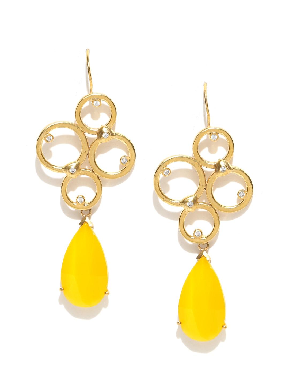 1b47ef803641e7 Yellow Earrings - Buy Yellow Earrings Online in India