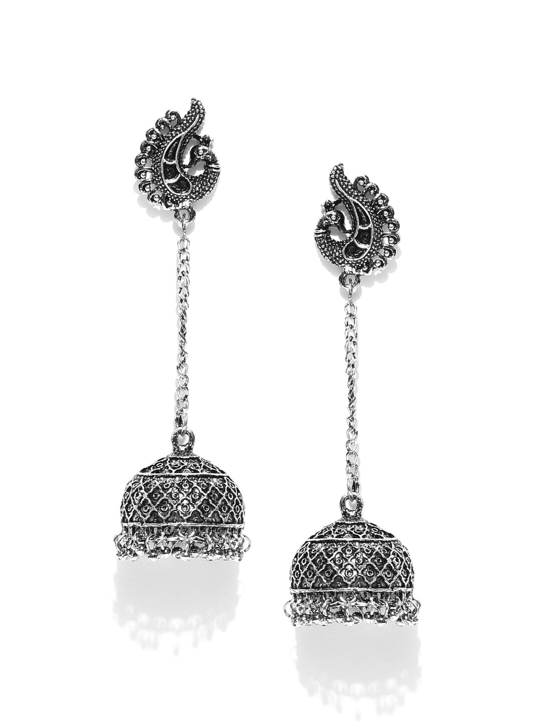 a4a8cc881 Kashmiri Jhumka Earrings Necklace - Buy Kashmiri Jhumka Earrings Necklace  online in India