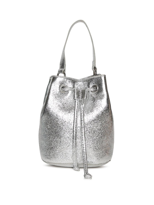 4b8b1041d31d FOREVER 21 Silver-Toned Sling Bag