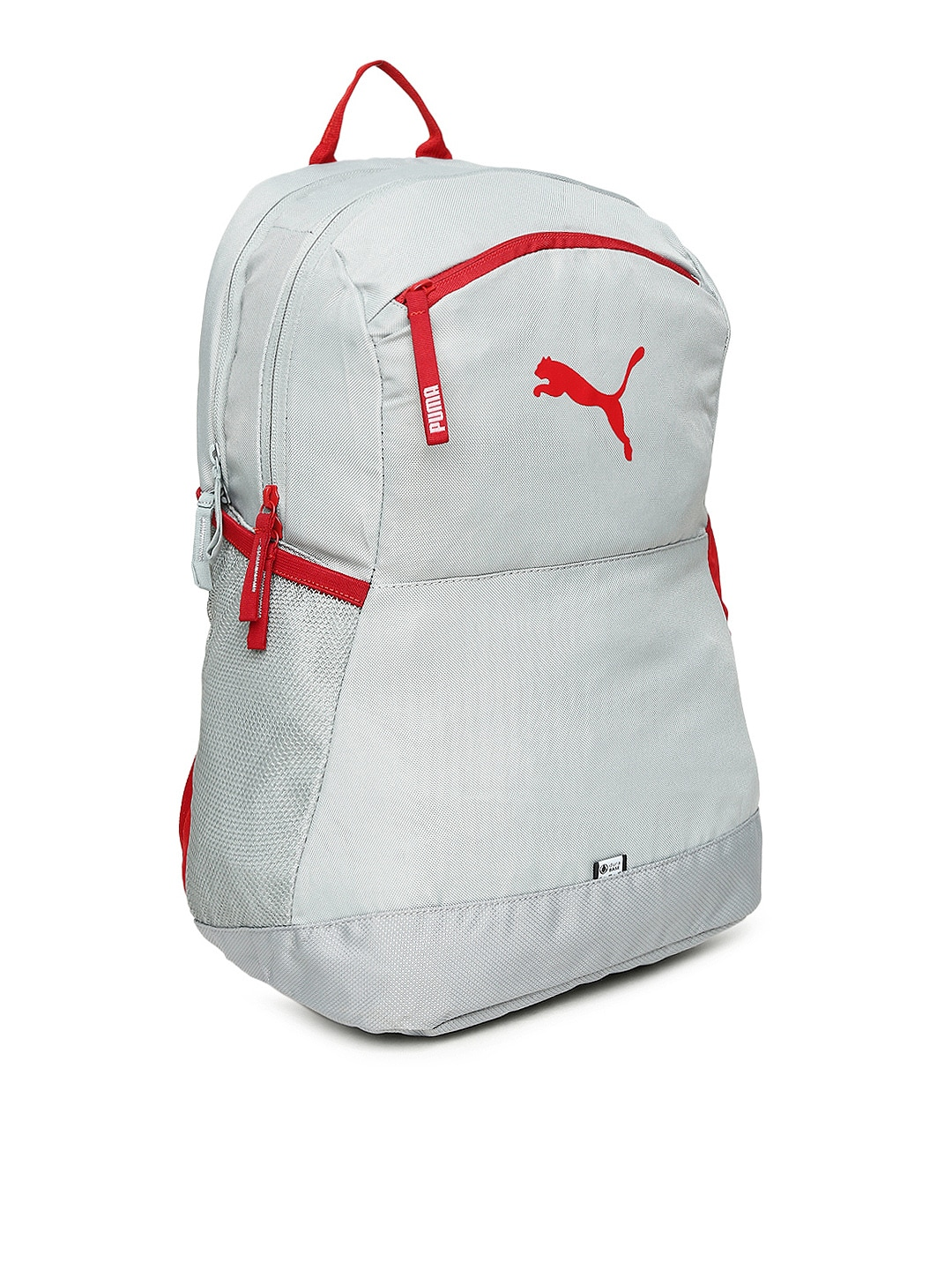 puma unisex beige & red recyclable backpack
