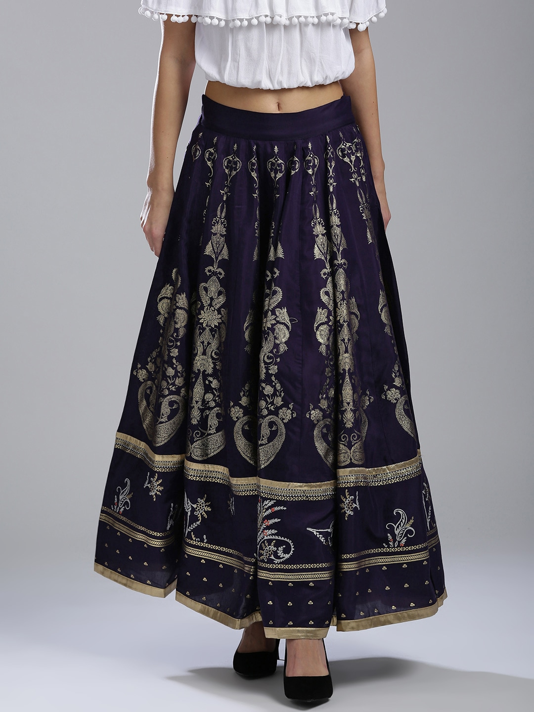 a1a1583e044b Embroidered Maxi Skirt Online India