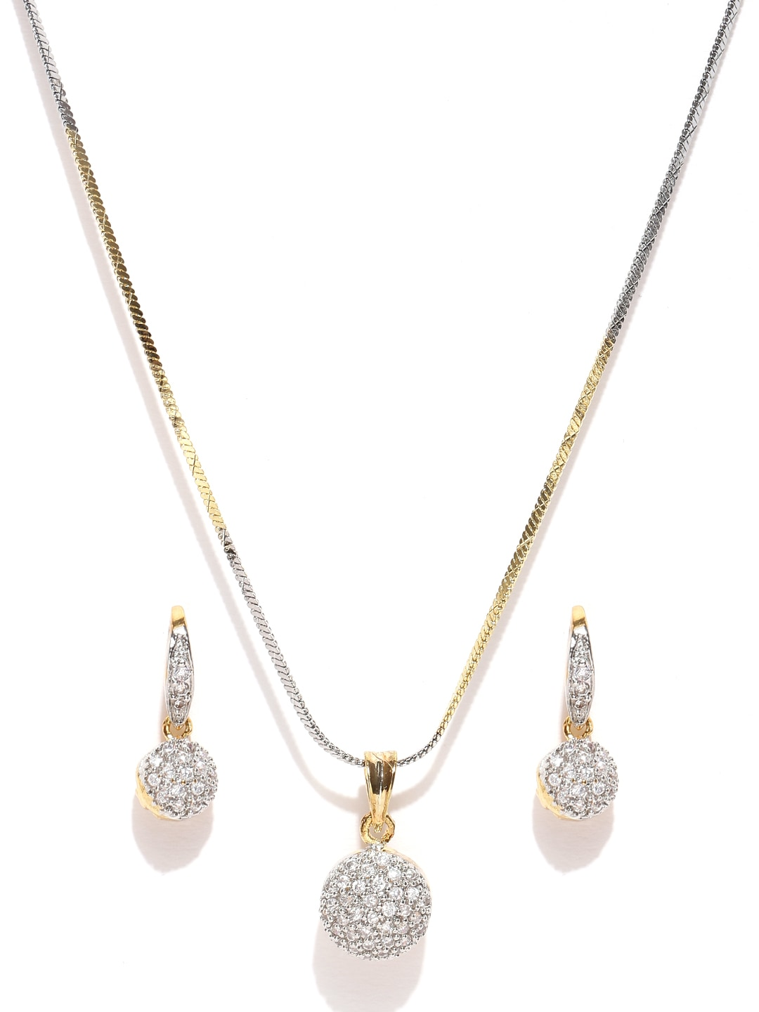 729ca807a Women Gold Jewellery Set Earring And Pendant - Buy Women Gold Jewellery Set  Earring And Pendant online in India
