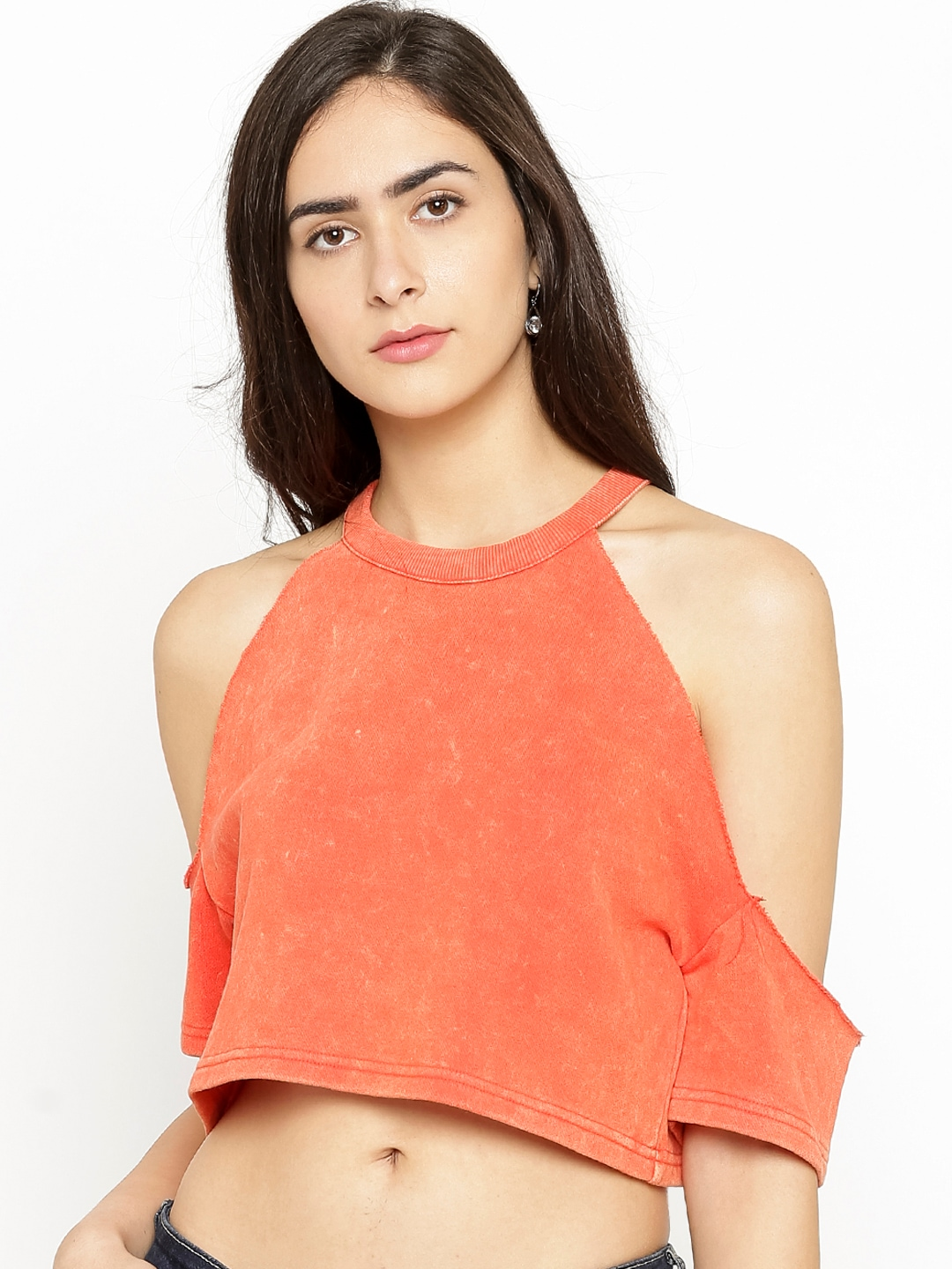 f0888ade082 Orange Basics Tops - Buy Orange Basics Tops online in India