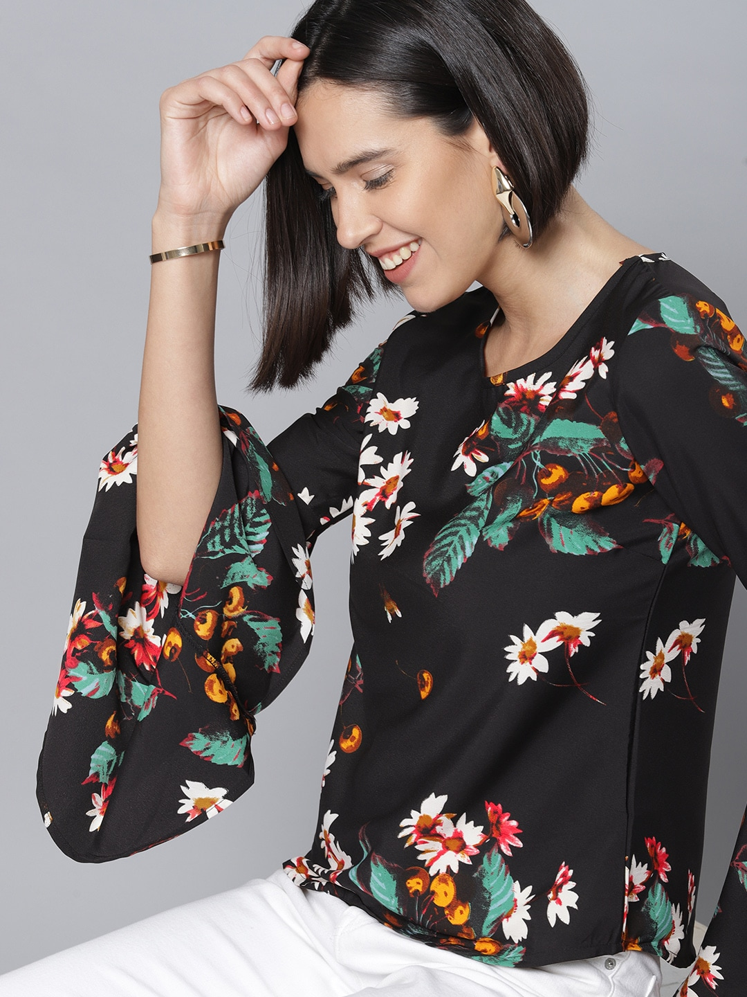 9b1e4dc111587 Floral Print Tops - Buy Floral Print Tops online in India
