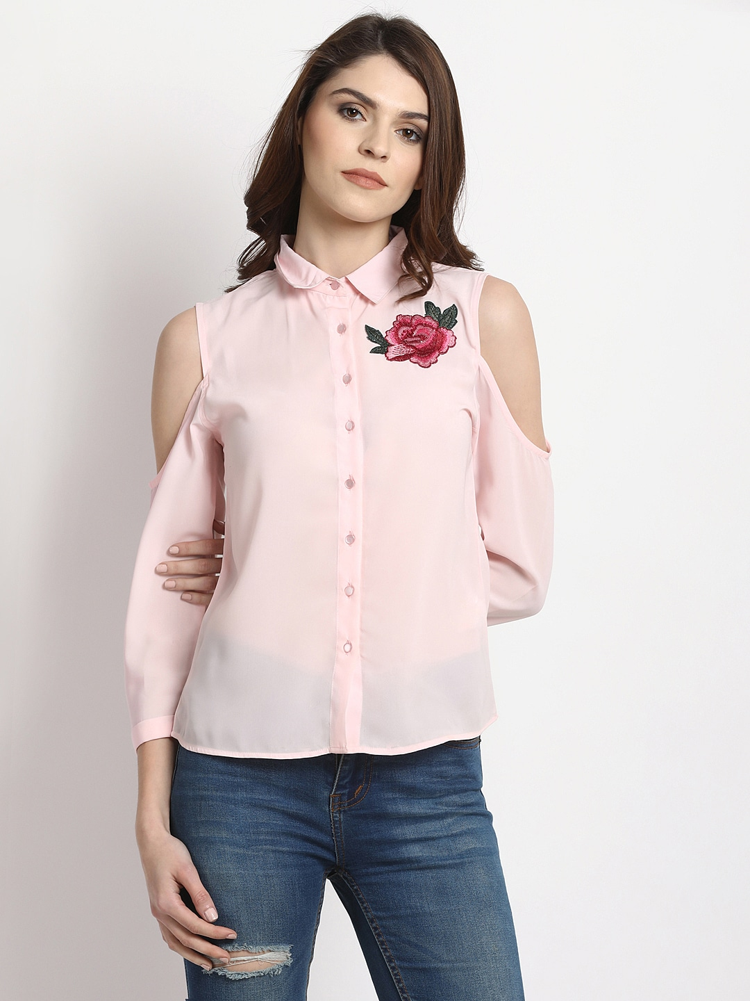 a967d33c857e8 Cold Shoulder Tops - Buy Cold Shoulder Tops for Women Online - Myntra