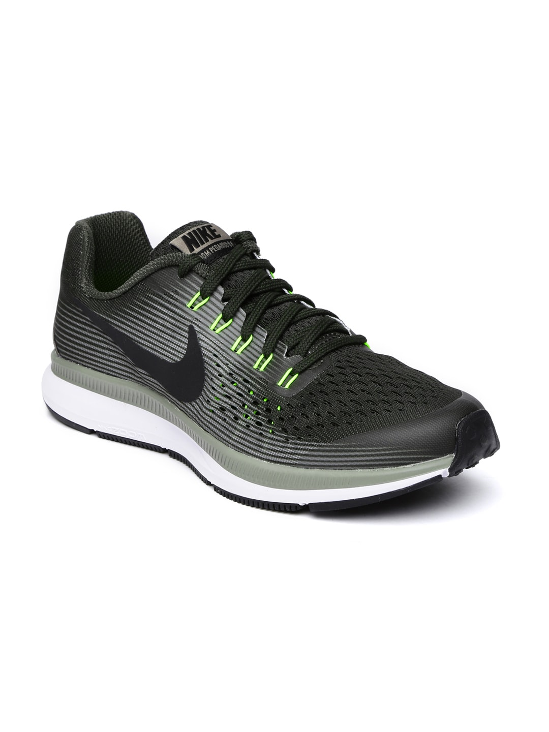 Nike Boys Olive Green Zoom Pegasus 34 Running Shoes