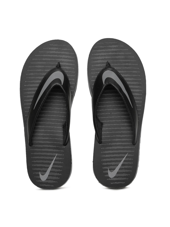 a3b08c53988 Nike Men Thong Black Flip Flops - Buy Nike Men Thong Black Flip Flops online  in India