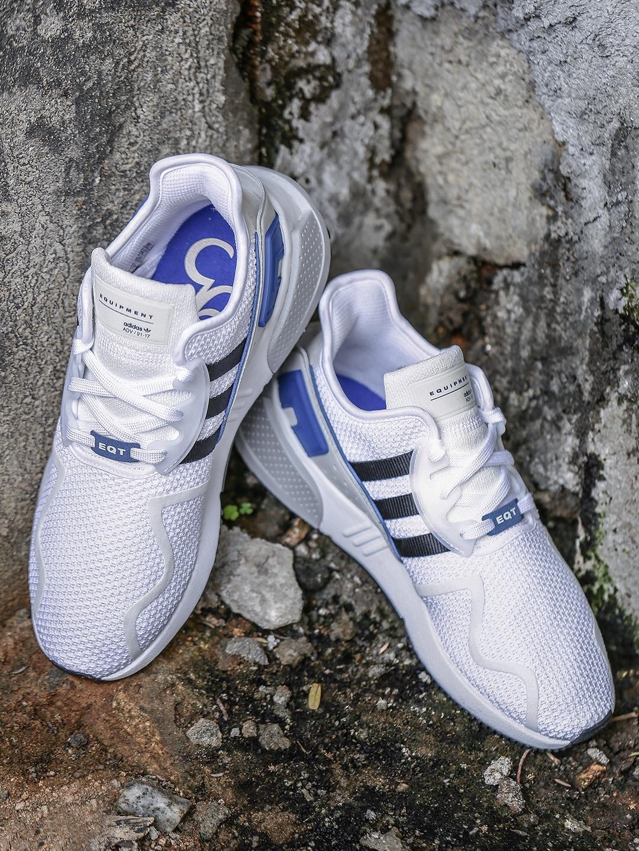 Adidas Originals Men White Eqt Cushion Adv Sneakers