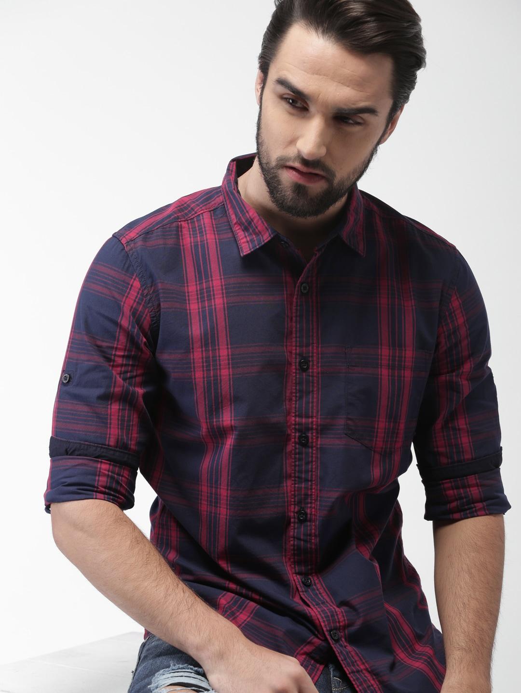 48cefd43e3d755 Men Check Shirts - Buy Men Check Shirts online in India