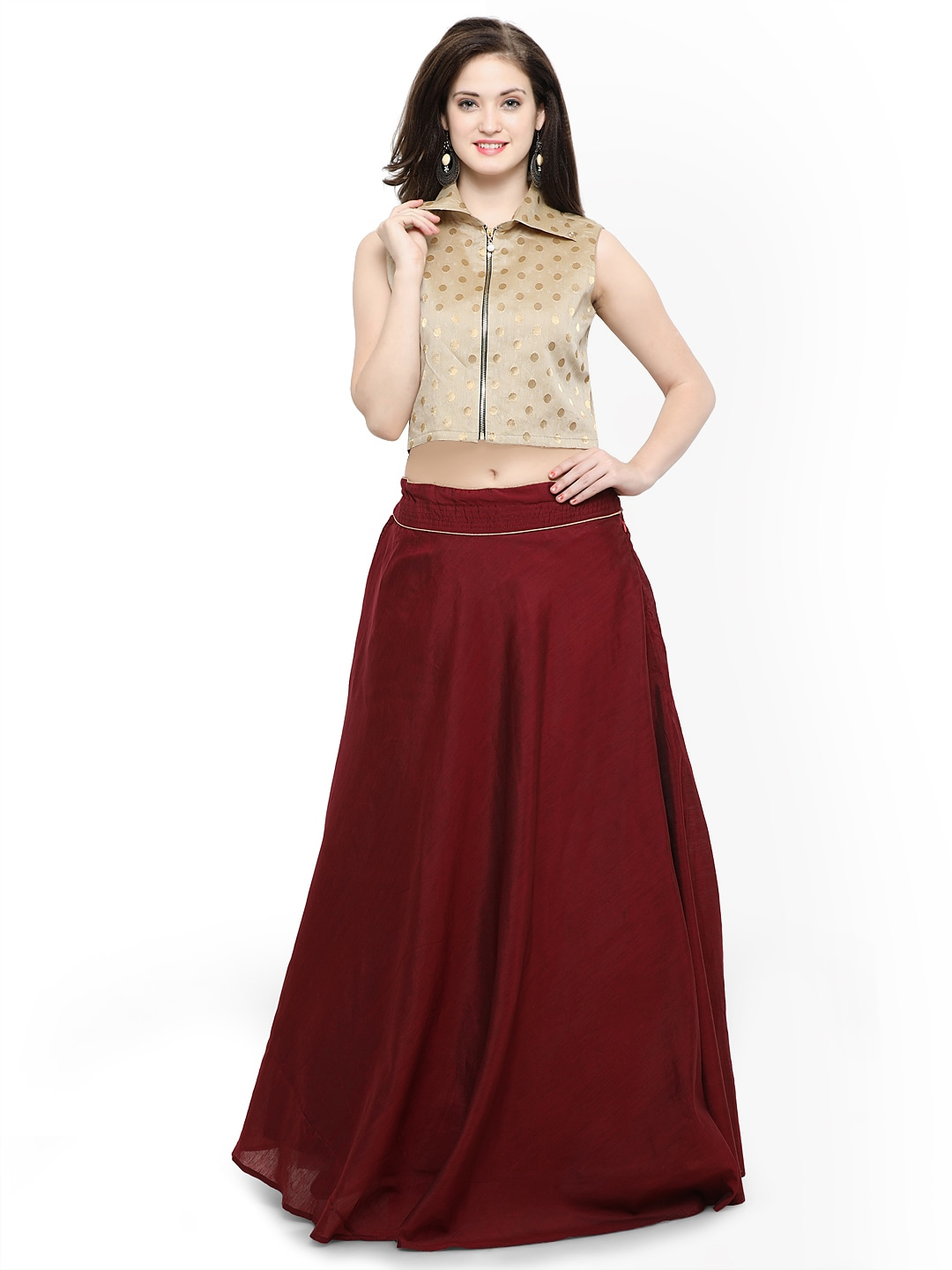 cf457849a Crop Top And Lehenga Skirt Online Myntra