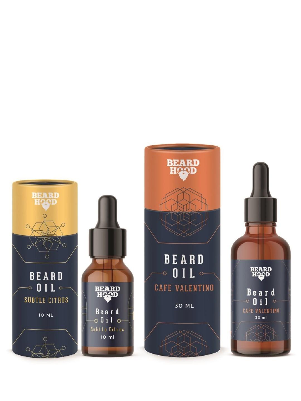 Beardhood Subtle Citrus & Cafe Valentino Pack of 2 Beard Oils