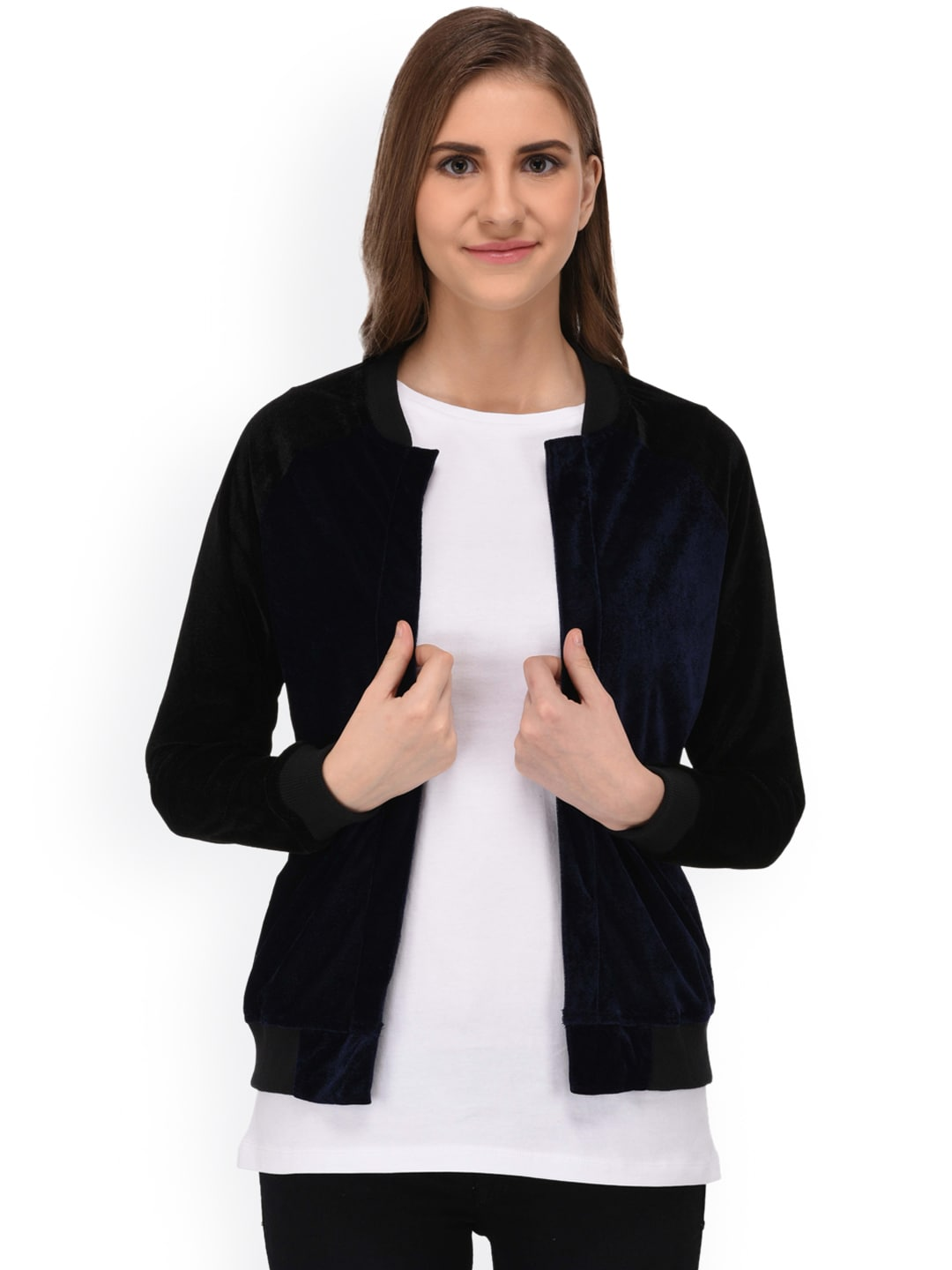89328a3d6 Rigo Women Blue & Black Solid Bomber Jacket