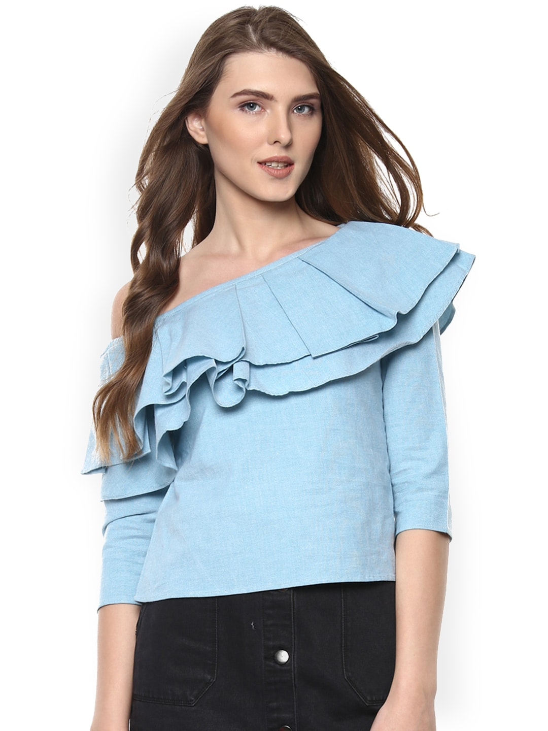 39c84f715a1185 One Shoulder Tops - Buy One Shoulder Tops Online in India