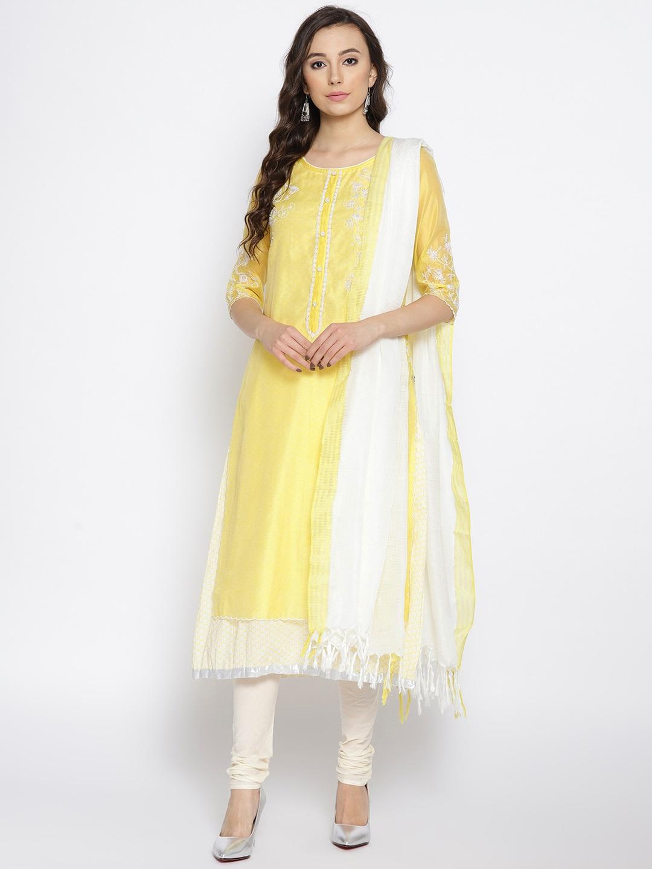 ef4b9dfbde0 Yellow Kurtas Sets Dress Material - Buy Yellow Kurtas Sets Dress Material  online in India