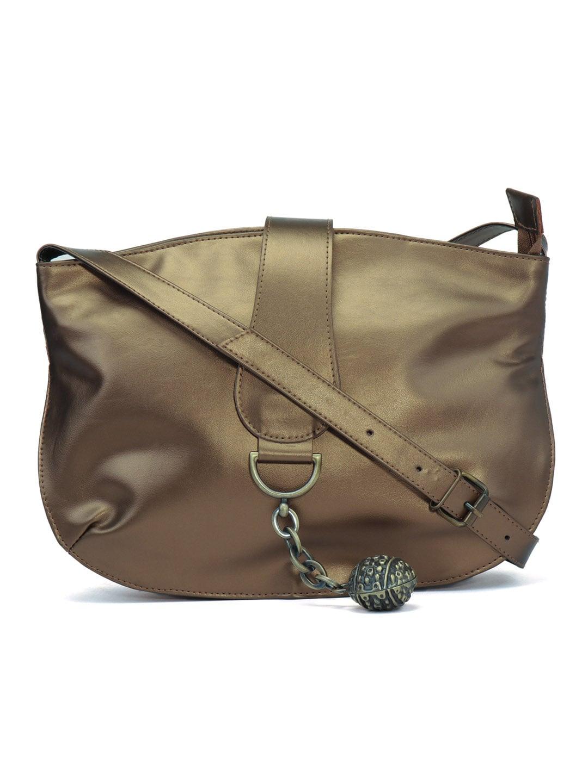 0bd29e35a6cb Anekaant Gold-Toned Solid Sling Bag