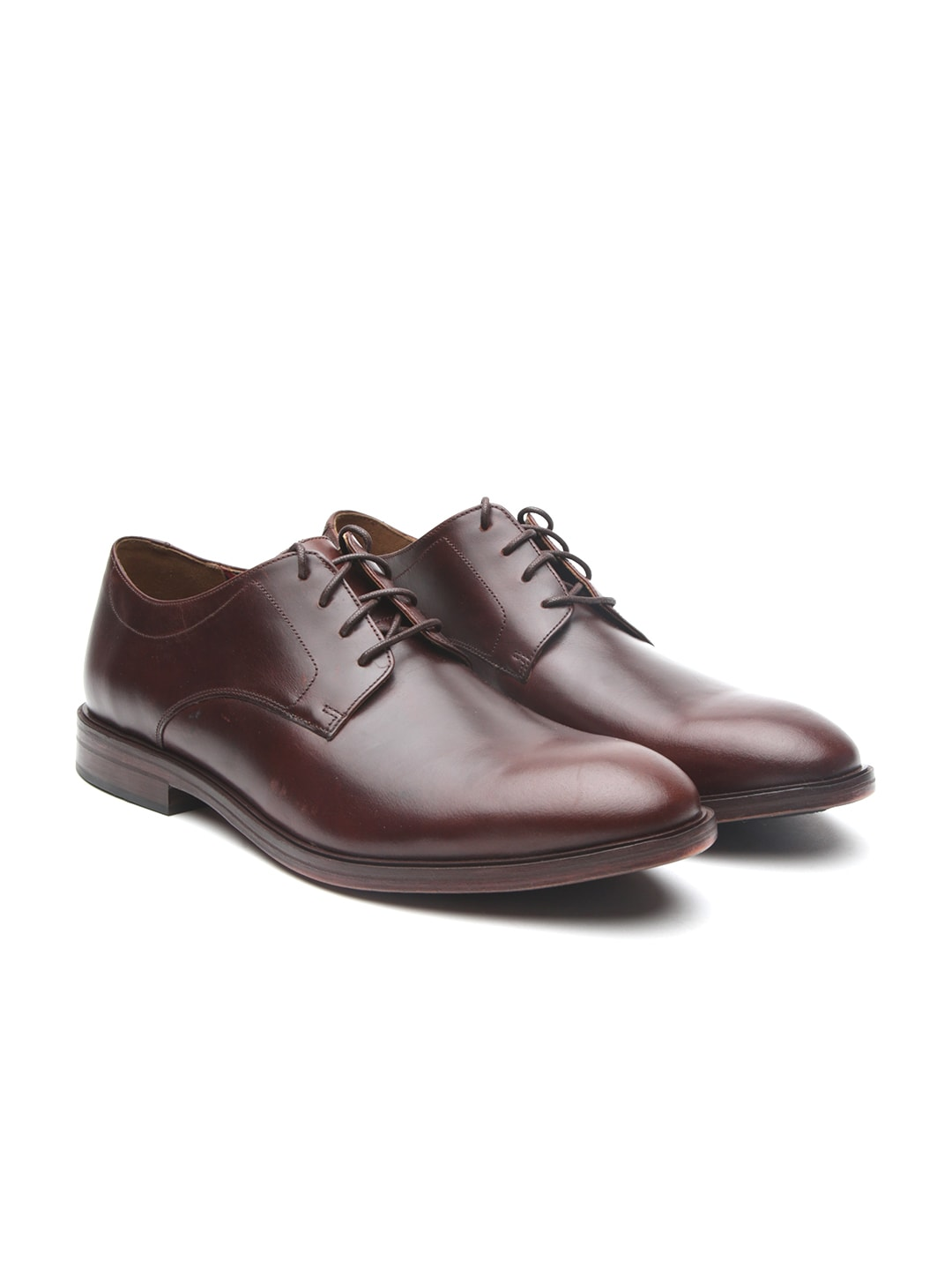 f450498187a Clarks Men Leather Brown Formal Shoes - Buy Clarks Men Leather Brown Formal  Shoes online in India