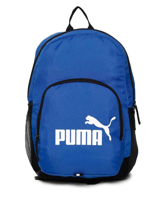 halpa hinta kodikas raikas myynti Puma Unisex Blue Phase IND Brand Logo Backpack
