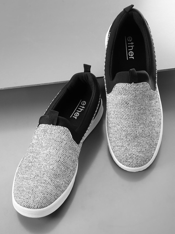 Ether Men Grey Slip On Sneakers 2446499