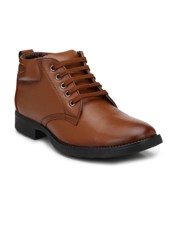 Mactree Men Tan Derby Shoes