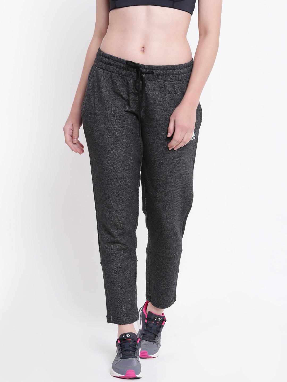 ADIDAS Women Charcoal Grey S2S 7 8 Track Pants