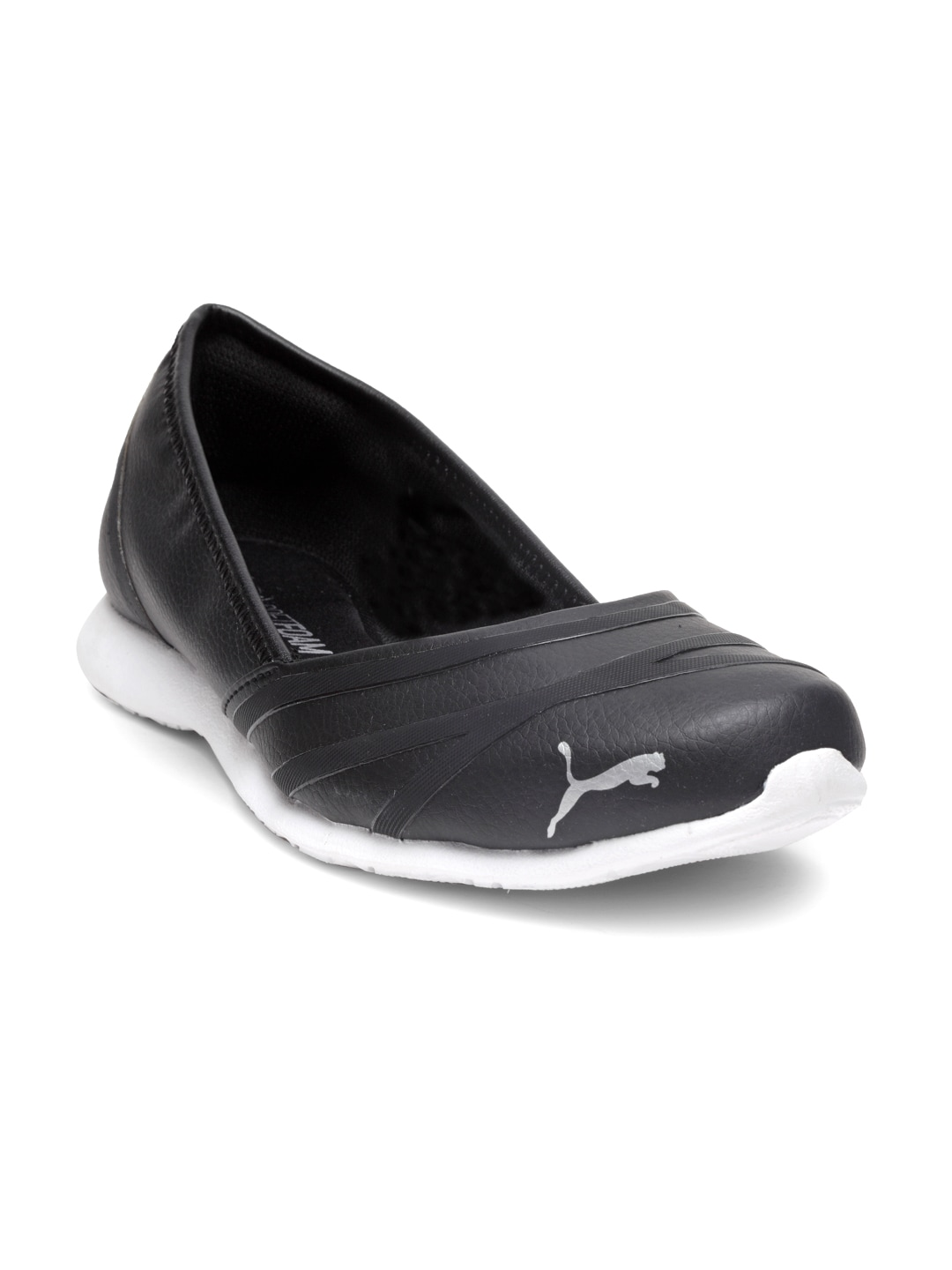 f4955a7e0d Puma Women Black Vega Ballet SL IDP Solid Synthetic Ballerinas