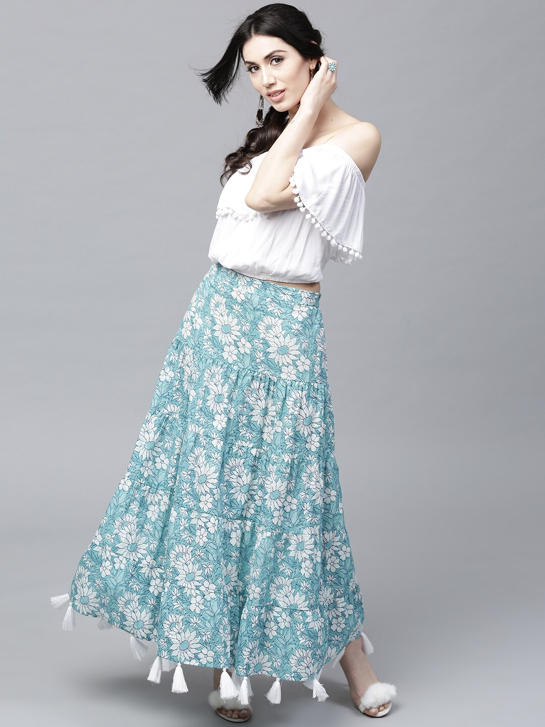 to wear - White Long skirt and top video