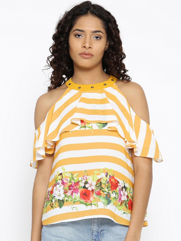 4ab9b350189df1 Cold Shoulder Tops - Buy Cold Shoulder Tops for Women Online - Myntra