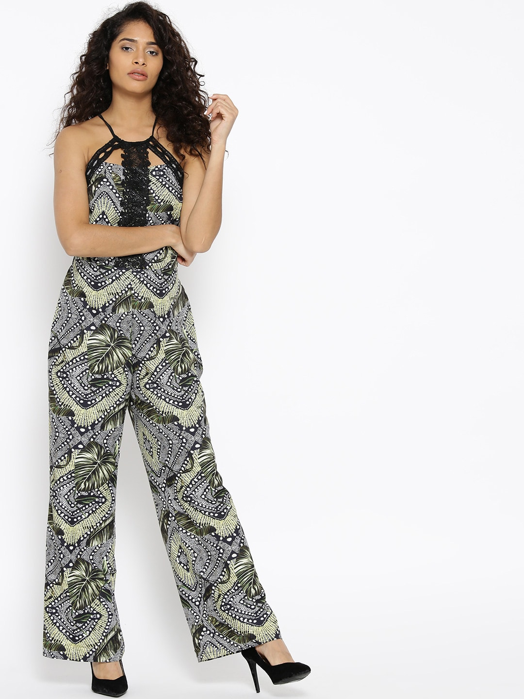 a97f8fa0f3a2 Black Jumpsuit - Buy Black Jumpsuit Online in India