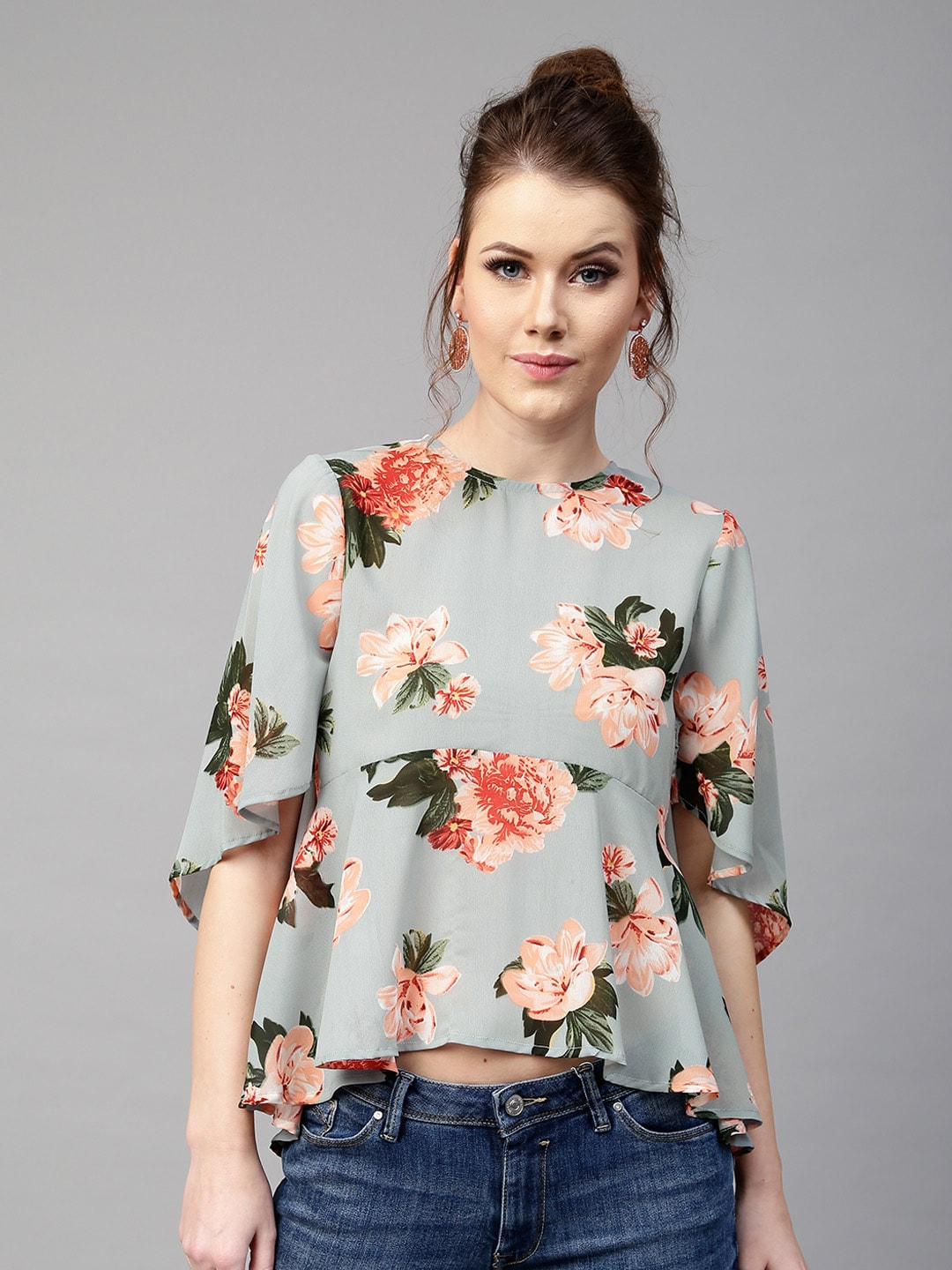 e9fe3668bd Floral Print Tops - Buy Floral Print Tops online in India