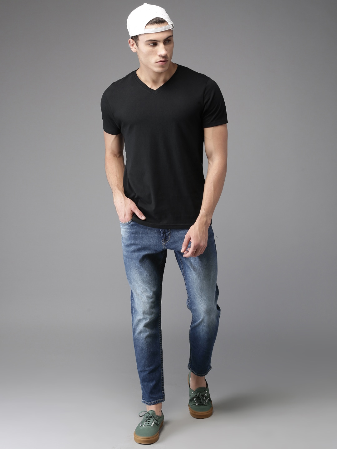 90a4c78cb28d V Neck T-shirt - Buy V Neck T-shirts Online in India