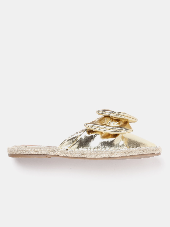 Mast & Harbour Women Gold-Toned Flats