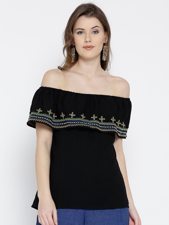 32243268b0d0d Black Tops - Buy Black Colour Tops Online in India