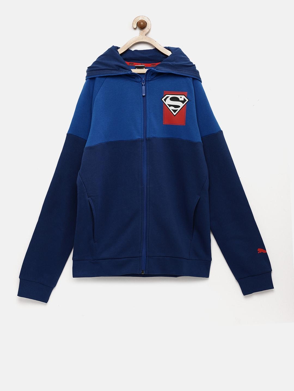 268a0447e91d Puma Boys Blue Lightweight Justice League Jacket
