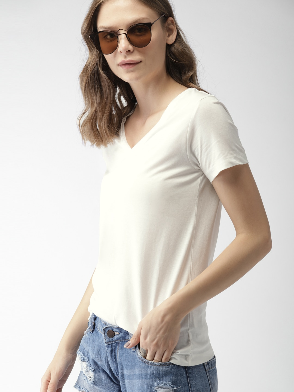 915ab0067a22 V Neck T-shirt - Buy V Neck T-shirts Online in India