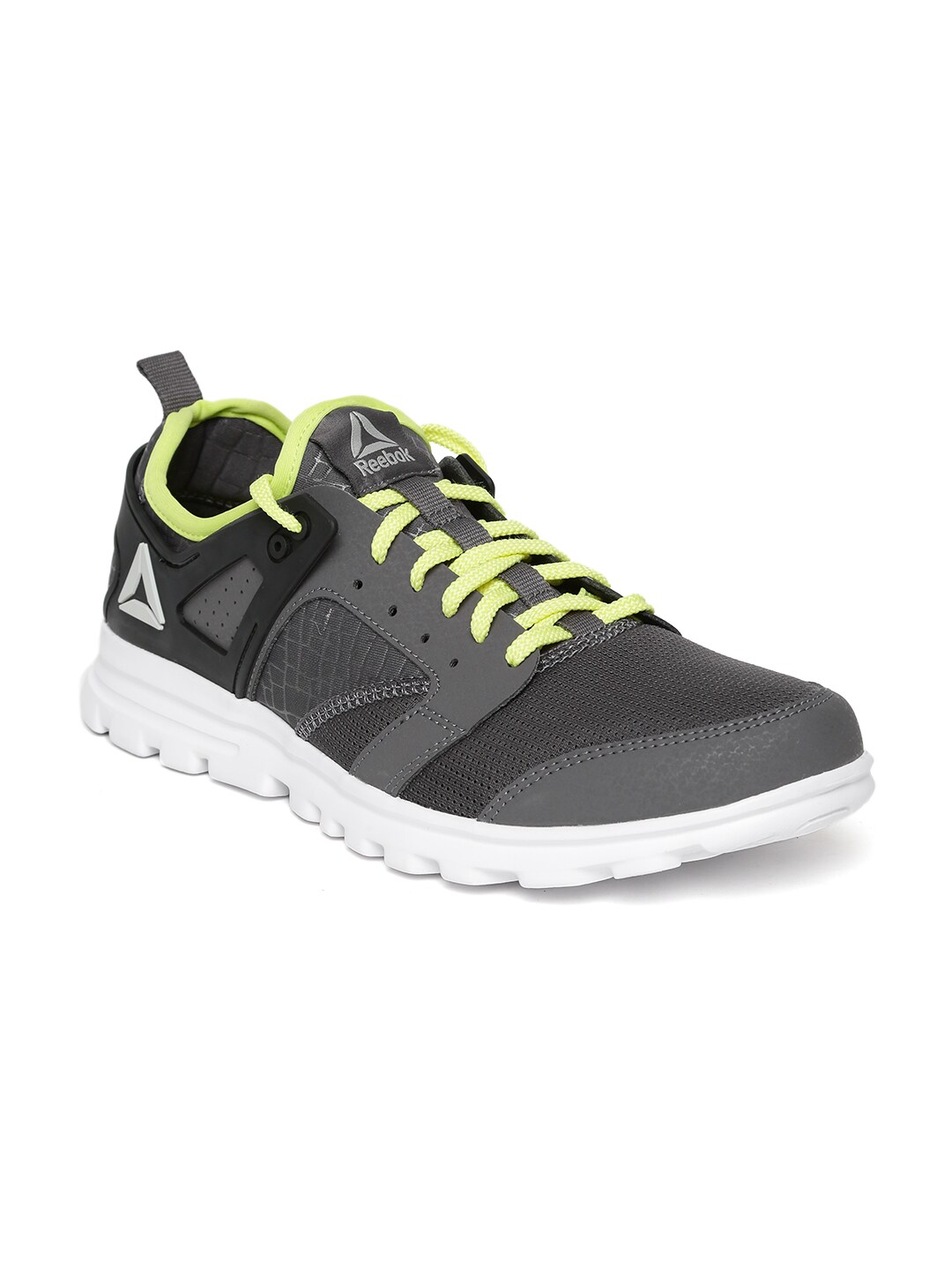 fd131bf3b89585 Reebok Men Grey Amaze Run 2.0 Running Shoes