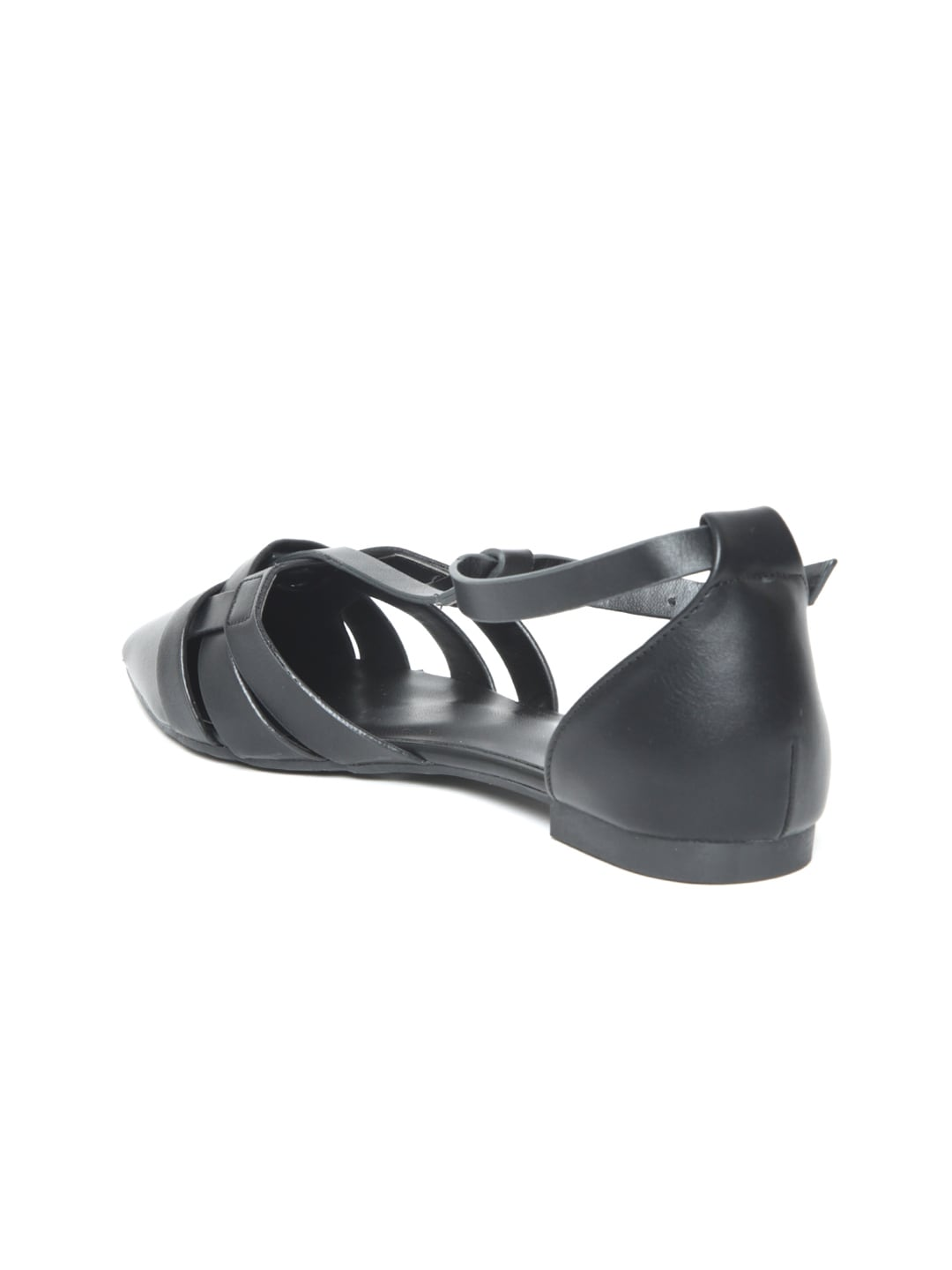 Van Heusen Women Black Solid Synthetic Ballerinas