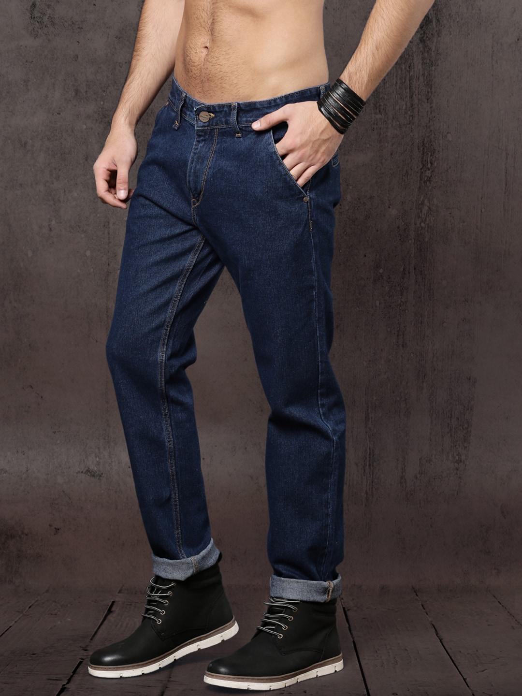 Roadster Time Travlr Men Blue Regular Fit Mid-Rise Clean Look Jeans