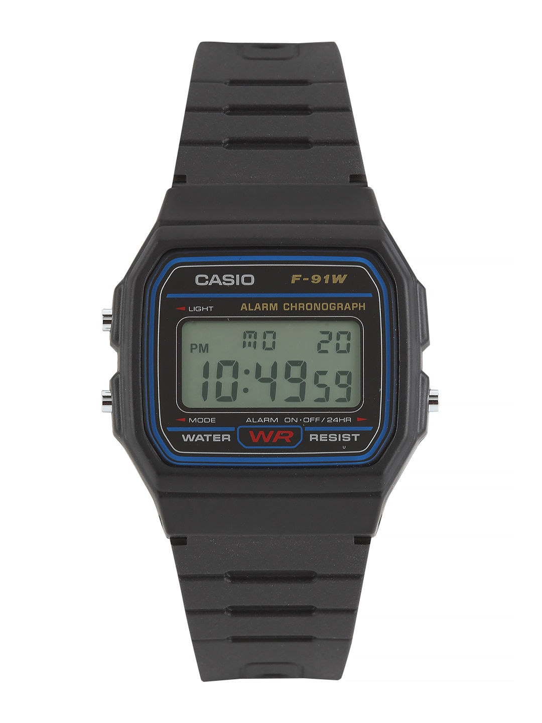 Casio Vintage Series Men Black Digital Watches (D002) F-91W-1DG