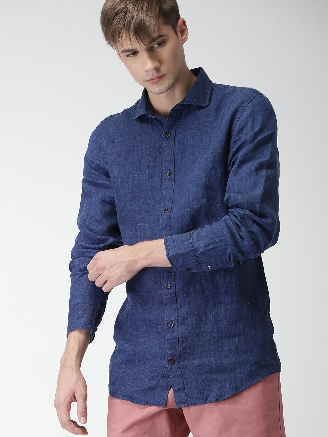 12077f0965d Tommy Hilfiger Linen Shirts - Buy Tommy Hilfiger Linen Shirts online in  India