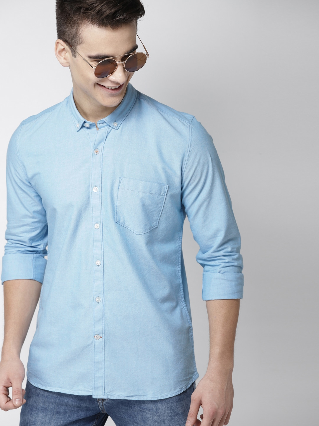 f3f219b21905f8 Blue Shirt - Buy Blue Colour Shirts Online at Best Price