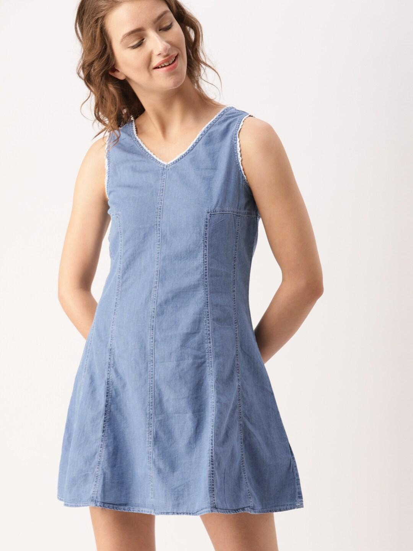81b6abecd7 Denim Dresses - Buy Denim Dresses Online in India