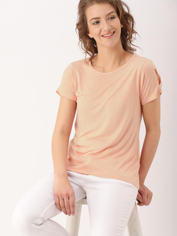 5fe25e558ed Peach Tops - Buy Peach Tops Online in India