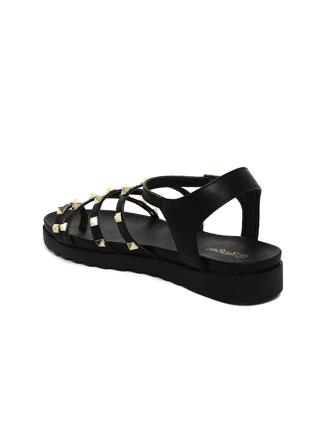 Ginger by Lifestyle Women Black Solid Flats