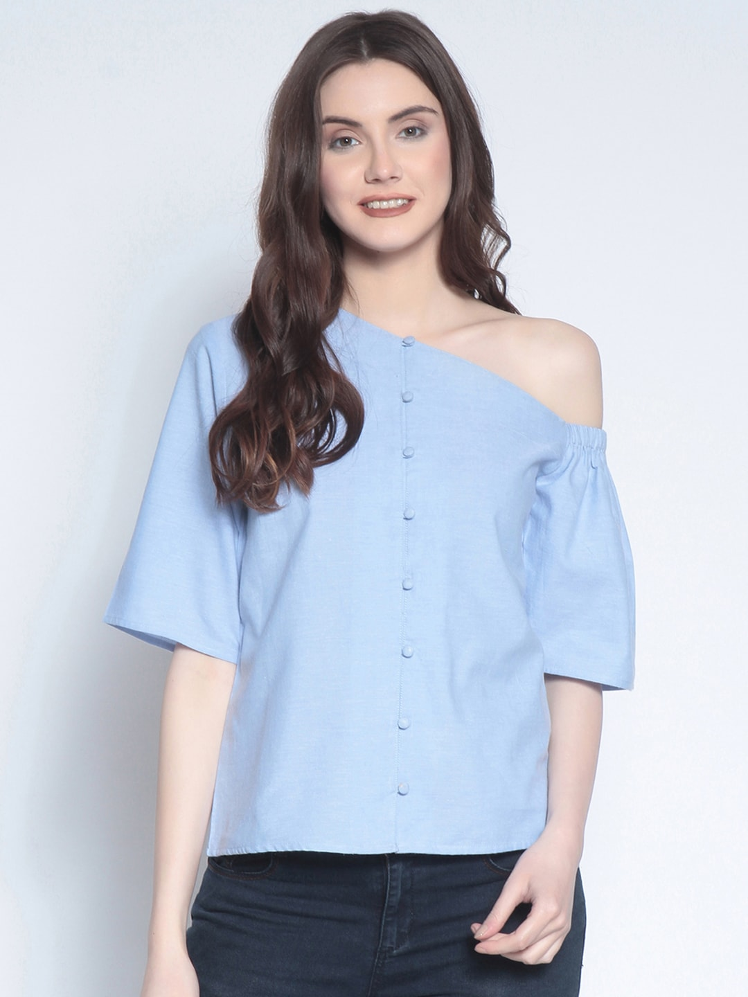 07128fa215d69 One Shoulder Tops - Buy One Shoulder Tops Online in India