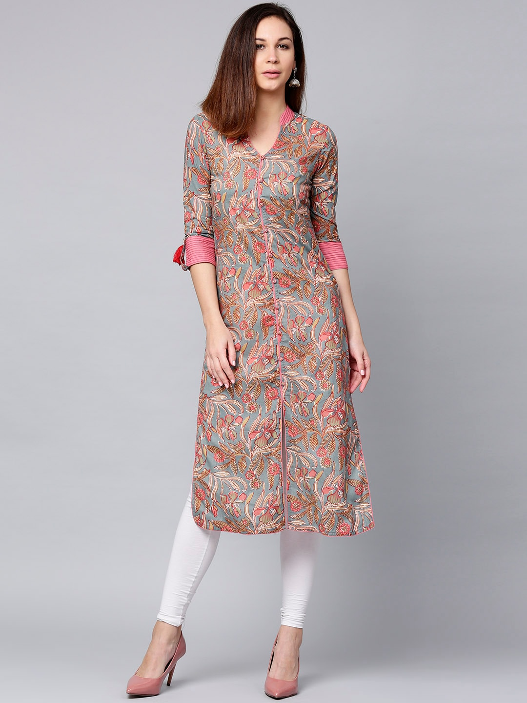 7d530824806db5 Floral Kurtas - Buy Floral Kurtas online in India