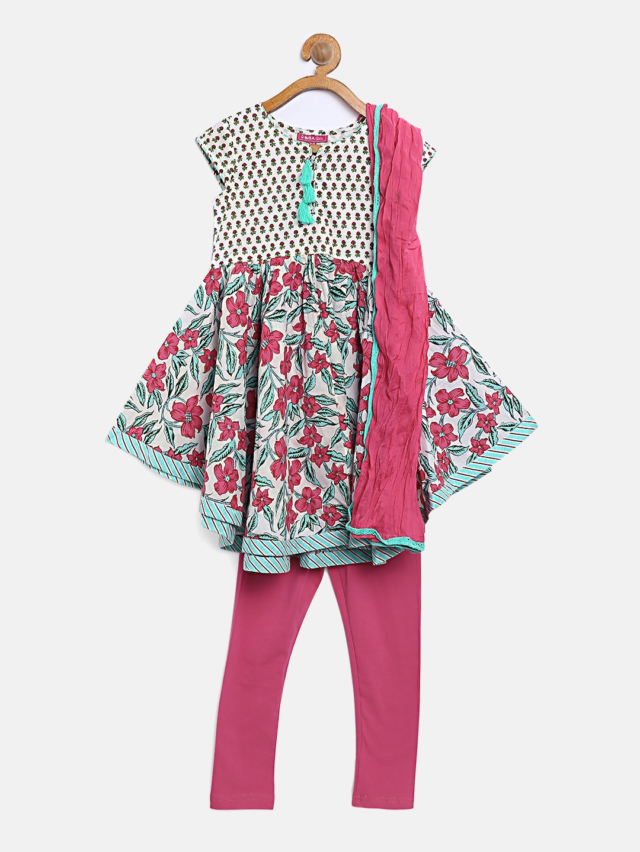 aca4717bbde Girls Apparel Set Patiala Kurtas Tie Cufflink - Buy Girls Apparel Set  Patiala Kurtas Tie Cufflink online in India