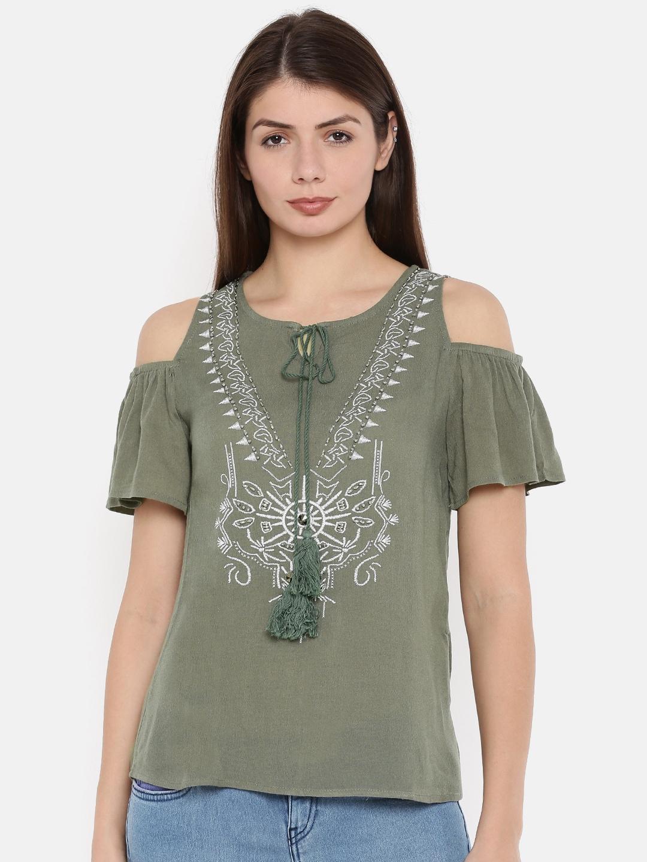 9dfad73a6bfa4 Cold Shoulder Tops - Buy Cold Shoulder Tops for Women Online - Myntra