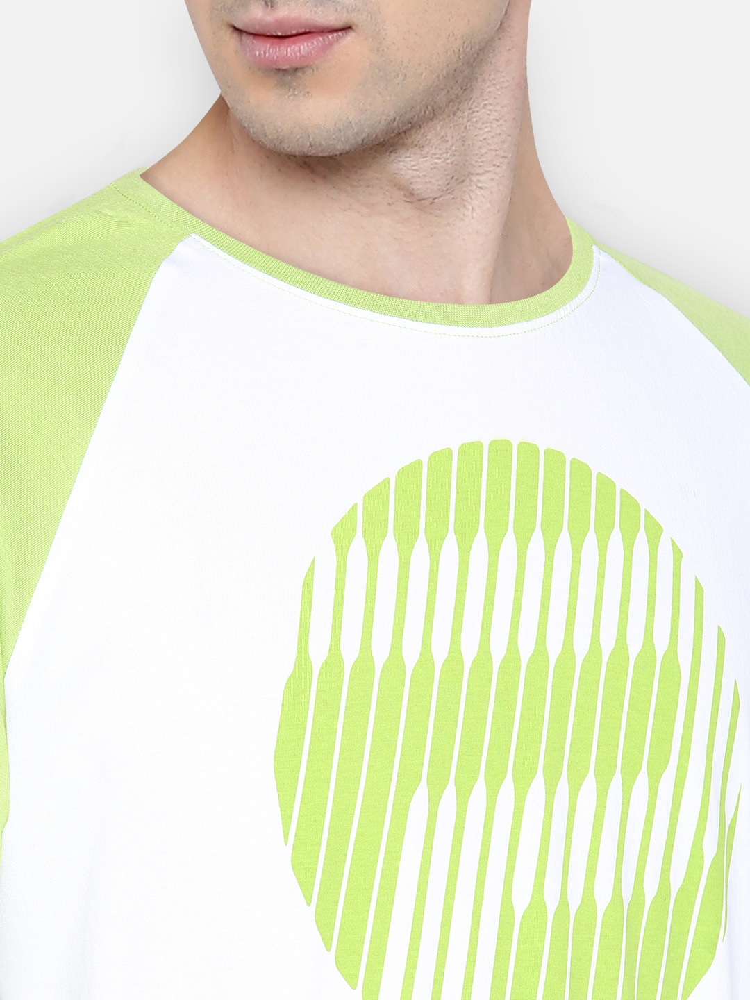 Pepe Jeans Men Green Printed Round Neck T-shirt
