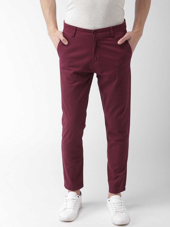 4208bdff4efeff Maroon Trousers - Buy Maroon Trousers Online in India